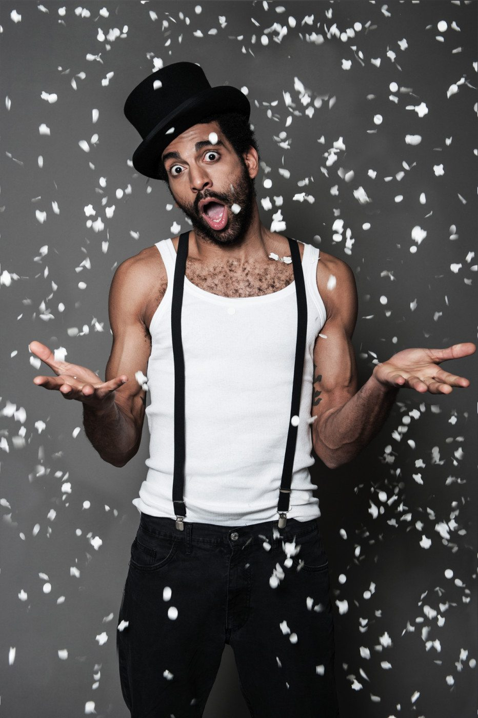 fotografia di musica del rapper mudimbi
