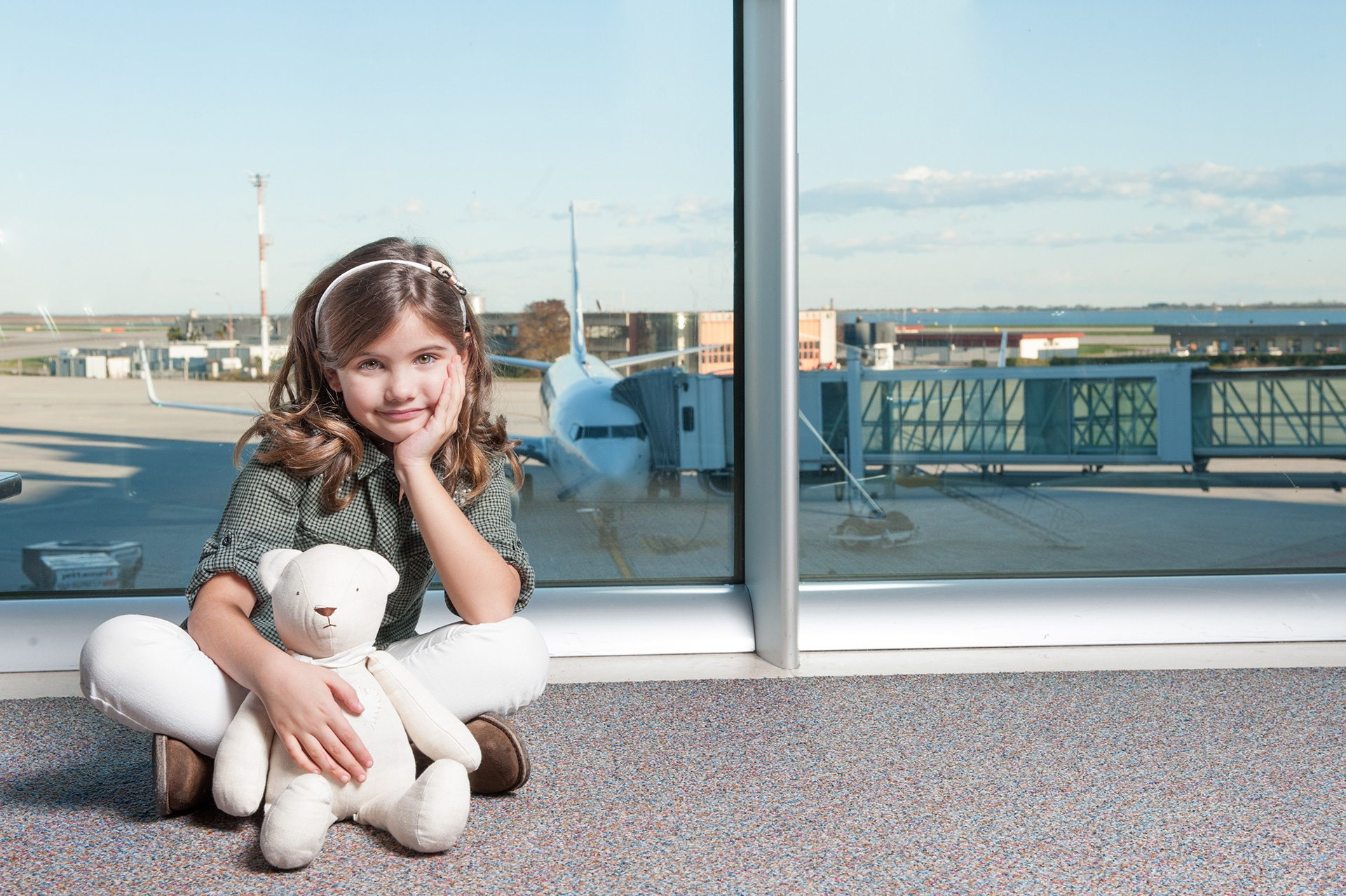 foto all'aeroporto per campagna pubblicitaria all'aeroporto di treviso